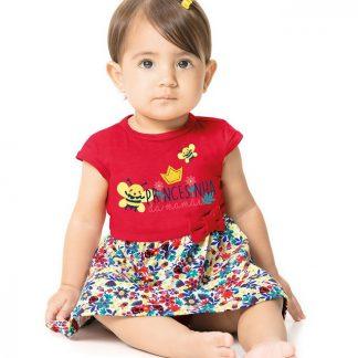 42fdfd8fa Macaquinho Jeans Bordado Paraíso Vestido bordado infantil Zig Zig Zaa
